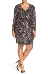 Plus Size Women's Marina Dress Metallic Paisley Sheath Dress
