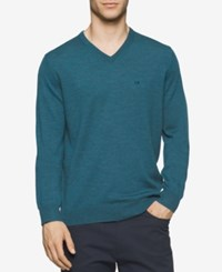 Calvin Klein Men's Merino V Neck Sweater Zola