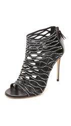 Casadei Caged Booties Black