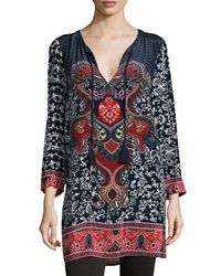Tolani Ceclia Long Printed Silk Tunic
