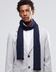 Noose And Monkey Dress Scarf Wool Navy