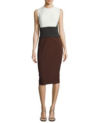 Narciso Rodriguez Sleeveless Peplum Sheath Dress Multicolor
