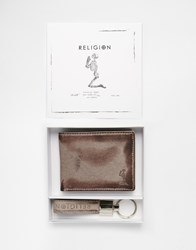 Religion Gift Set Wallet And Key Ring Black