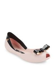 Melissa Queen Iv Jelly Ballet Flats Pink Black