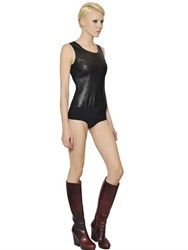 Maison Martin Margiela Nappa Leather And Lycra Bodysuit