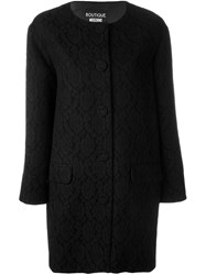 Boutique Moschino Lace Overlay Coat Black