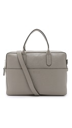 Ben Minkoff Embossed Leather Fulton Briefcase Medium Grey