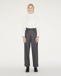 Junya Watanabe Silk Wool Trousers Black Gray