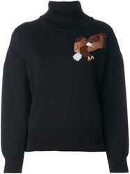 Each X Other Embroidered Eagle Sweatshirt Black