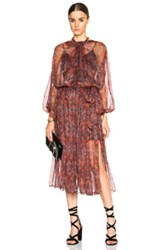 Zimmermann Empire Lace Dress In Red Floral Metallics