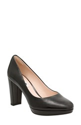 Clarksr Women's Clarks 'Kendra Sienna' Almond Toe Pump Black Leather