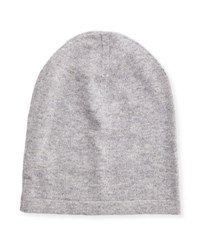 Neiman Marcus Cashmere Slouchy Beanie Hat Gray