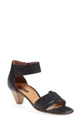 Women's Paul Green 'Coco' Leather Ankle Strap Sandal Black Leather