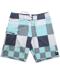 Rusty Gbah Checked 20' Board Shorts Navy