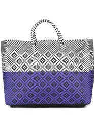 Truss Nyc Woven Tote White