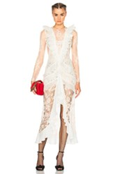 Alessandra Rich Chantilly Lace Nymph Dress In White