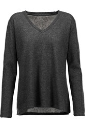 Majestic Cotton And Cashmere Blend Top Anthracite