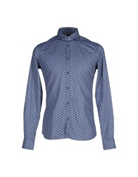 Aglini Shirts Shirts Men Slate Blue