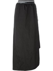 Nasir Mazhar Panelled Tie Up Skirt Black