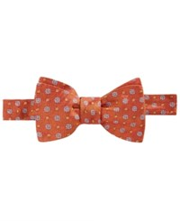 Brooks Brothers Men's Parquet Flower To Tie Bow Tie Orange