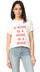 6397 A Rose Is Tee White