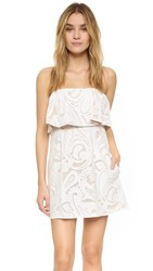 Bcbgmaxazria Leah Strapless Dress White