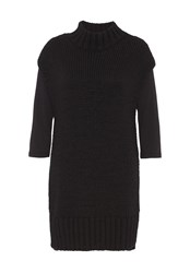 Hallhuber Chunky Knit Long Tunic Black