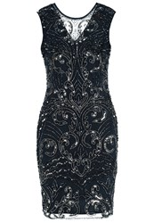 Lace And Beads Austin Cocktail Dress Party Dress Navy Dark Blue