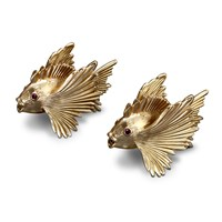 L'objet Fish Salt And Pepper Shaker Set Gold