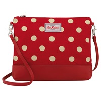 Cath Kidston Coated Cotton Button Spot Across Body Bag Berry