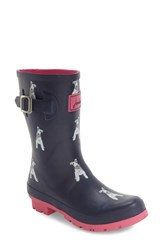Joules Women's 'Molly' Rain Boot French Navy Floral