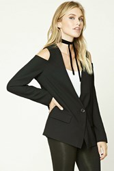 Forever 21 Contemporary Plunging Blazer Black