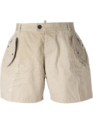 Dsquared2 Classic Bermuda Shorts Nude And Neutrals