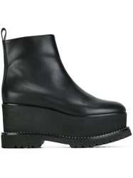 Givenchy Studded Wedge Ankle Boots Black