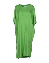 Ready To Fish Knee Length Dresses Green