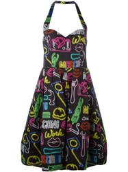 Moschino Neon Light Print Dress Multicolour