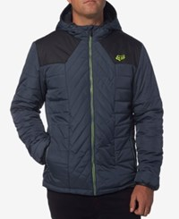 Fox Men's Quilted Hooded Jacket Pewter
