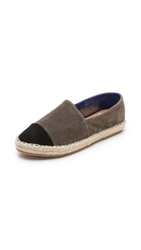 Jeffrey Campbell Atha Cap Toe Espadrilles Black Grey