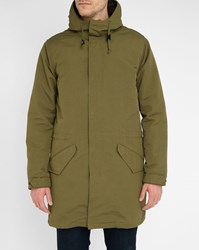 Levi's Khaki M65 Parka With Removable Sherpa Lining