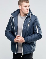 Blend Of America Hooded Parka Jacket Blue Nights Blue Nights Navy