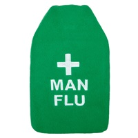 John Lewis Man Flu 2 Litre Hot Water Bottle Green