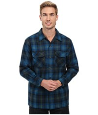 Pendleton L S Board Shirt Turquoise Green Plaid Men's Long Sleeve Button Up Blue