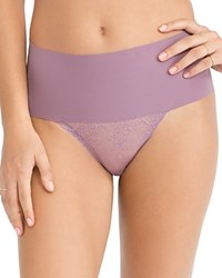 Spanx Thong Undie Tectable Lace Sp0615 Mulberry