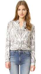 L'agence Bianca Blouse Bright White Combo