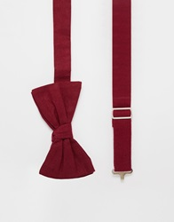 Reclaimed Vintage Bow Tie Red