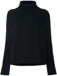 Dusan Roll Neck Cropped Sweater Black