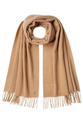 Polo Ralph Lauren Cashmere Scarf With Wool Camel