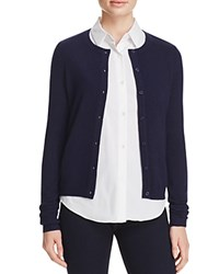 Bloomingdale's C By Crewneck Cashmere Cardigan Dark Navy