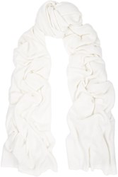 The Elder Statesman Cashmere And Silk Blend Scarf