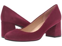 French Sole Trance Wine Suede Women's Flat Shoes Burgundy